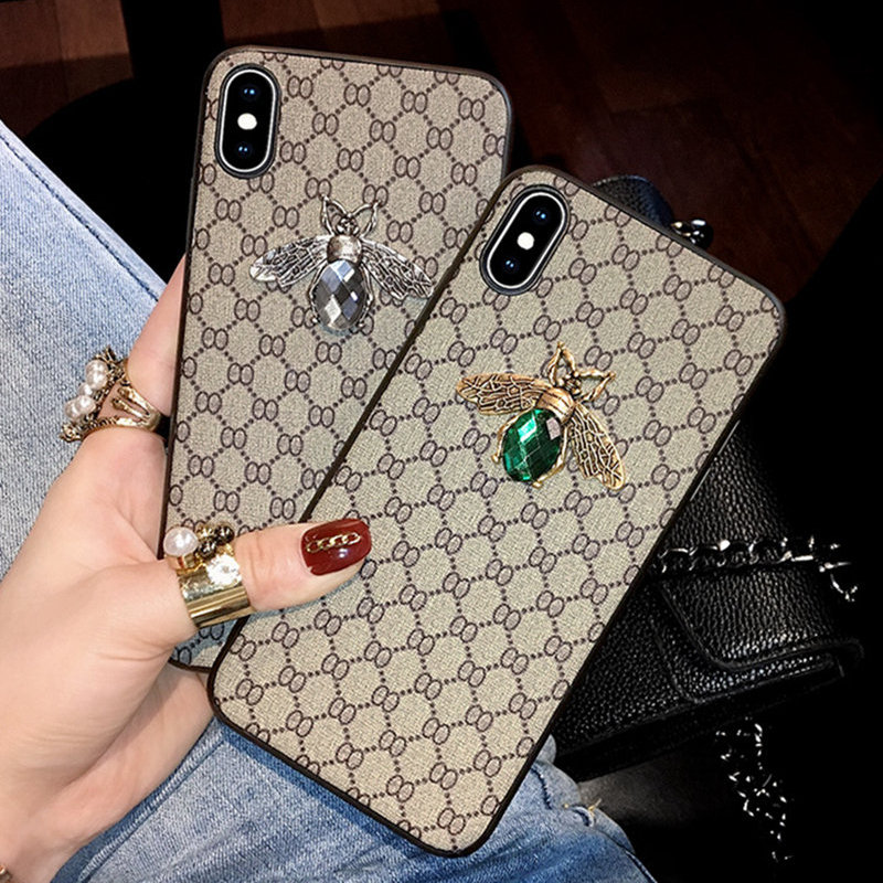 Luxury Diamond Fabric Embroidery Leather Phone Case for IPhone 11 Pro Case X XR XS XS Max 7 8 6s 6 Plus 2